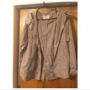 Zara Basic Outerwear Department Khaki Jacket Sz S